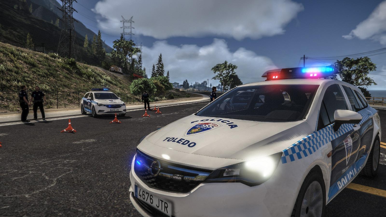 La Policía Local de Toledo en el GTA V.