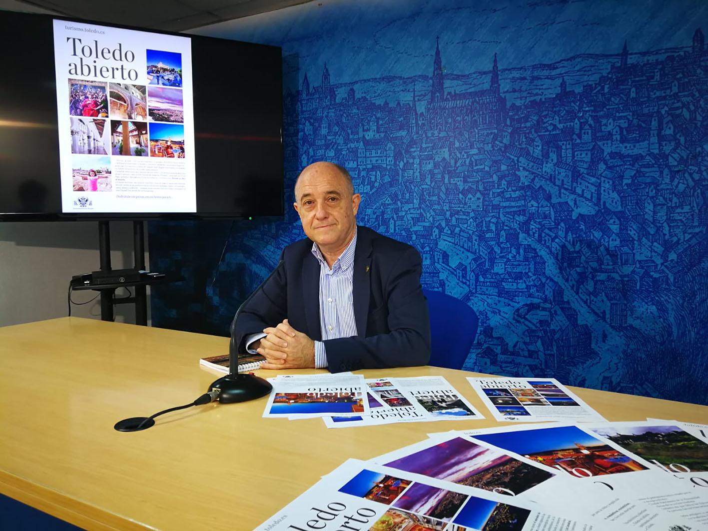 """Francisco Rueda presenta la campaña """"Toledo abierto. Disfrútalo sin prisa"""""""