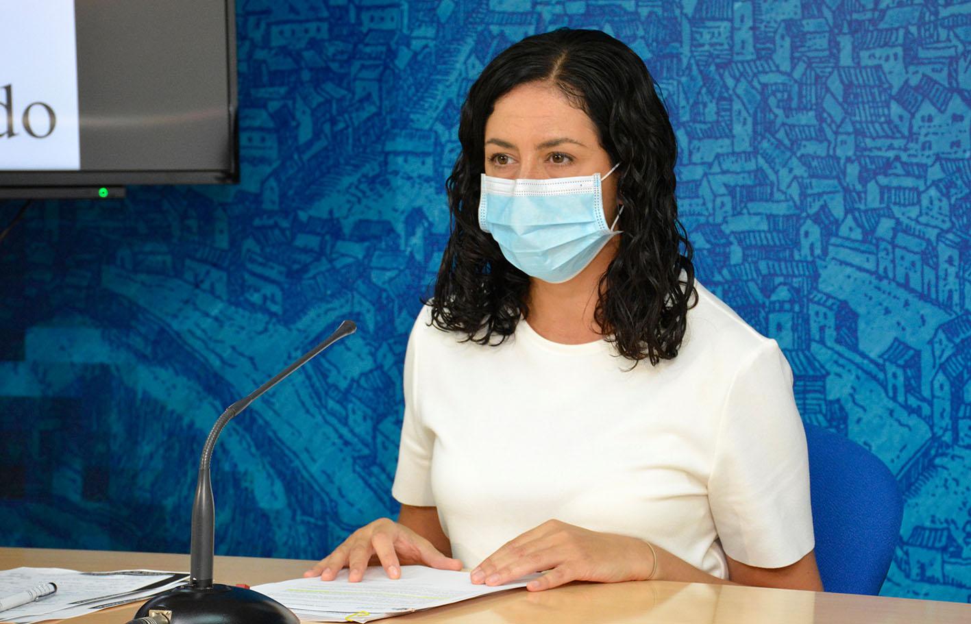 Noelia de la Cruz, portavoz del Gobierno municipal de Toledo, en una foto de archivo.