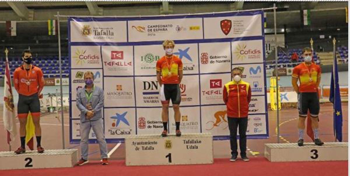 Pepe Moreno, en lo más alto del podio de Tafalla