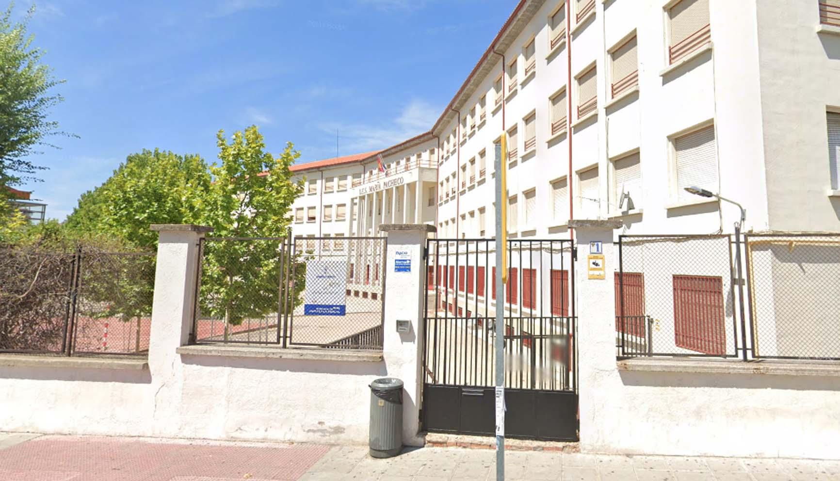 Colegio María de Pacheco, en Toledo, donde ha aparecido un positivo por Covid-19.