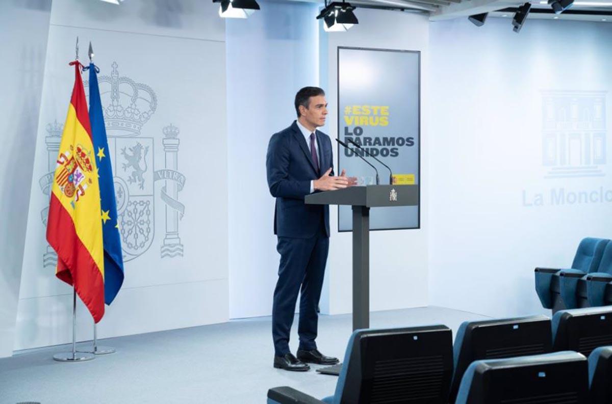 El presidente del Gobierno, Pedro Sánchez, en la Moncloa