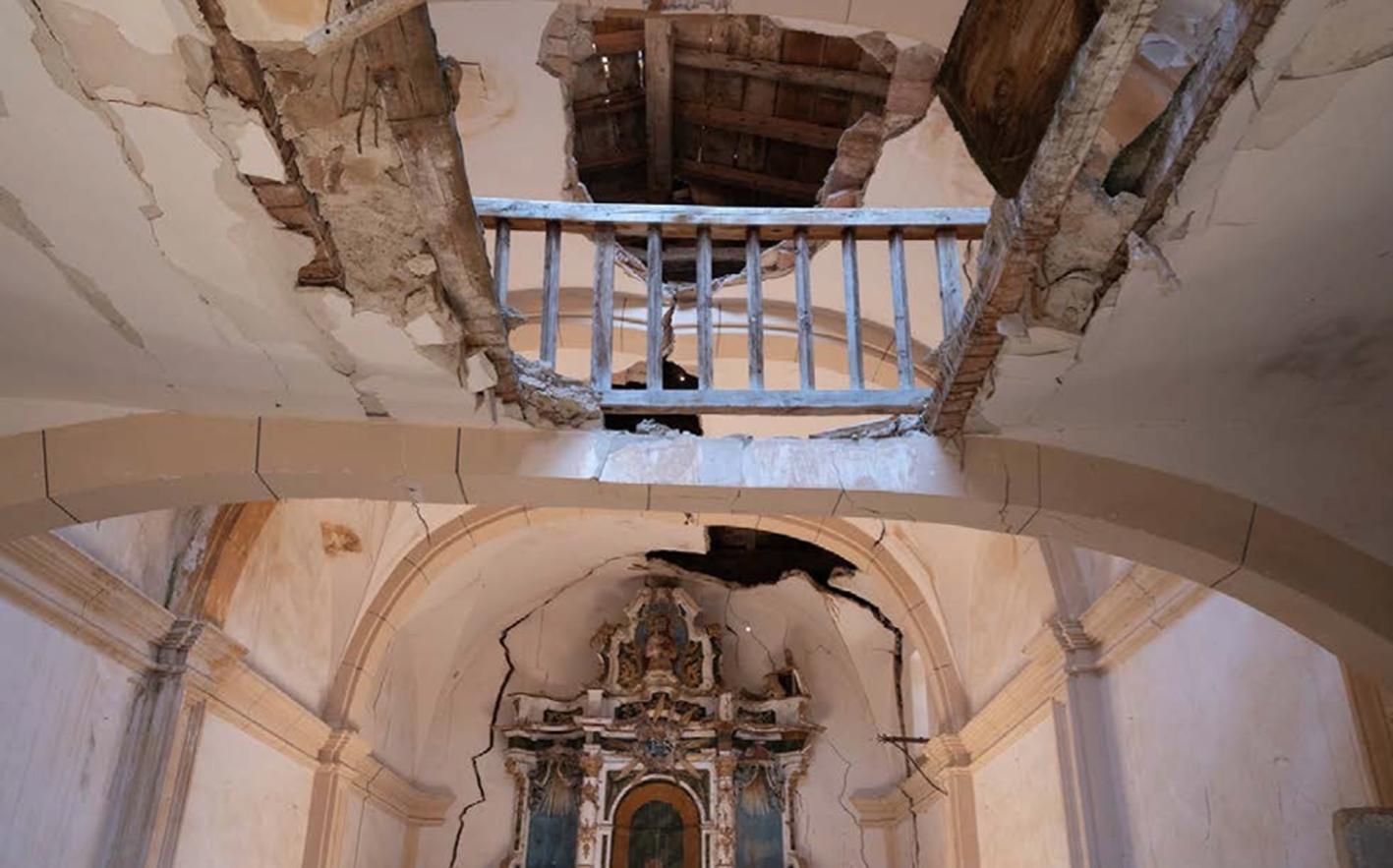 La ermita está destrozada y ha sido saqueada.