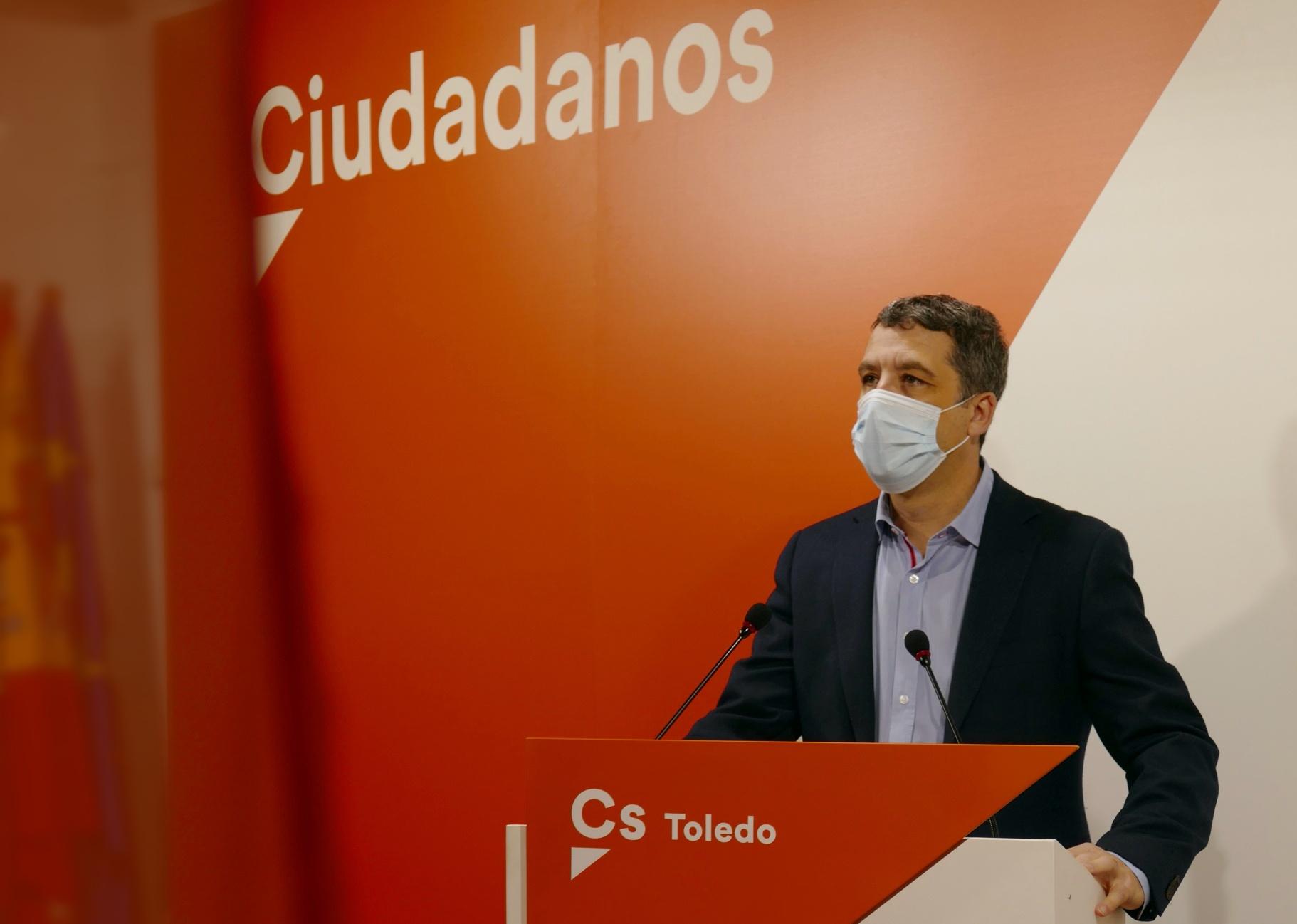 El portavoz de Ciudadanos en el Ayuntamiento de Toledo, Esteban Paños.