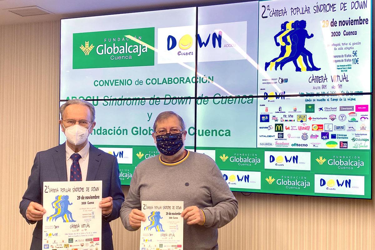 Firma del convenio entre Fundación Globalcaja y Asociación Síndrome de Down de Cuenca.