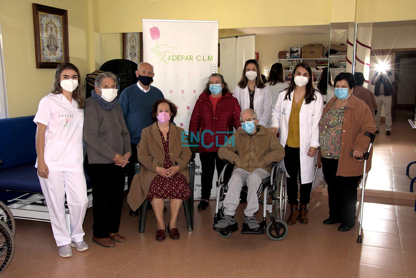 Miembros de la Asociación de Parkinson de Talavera.