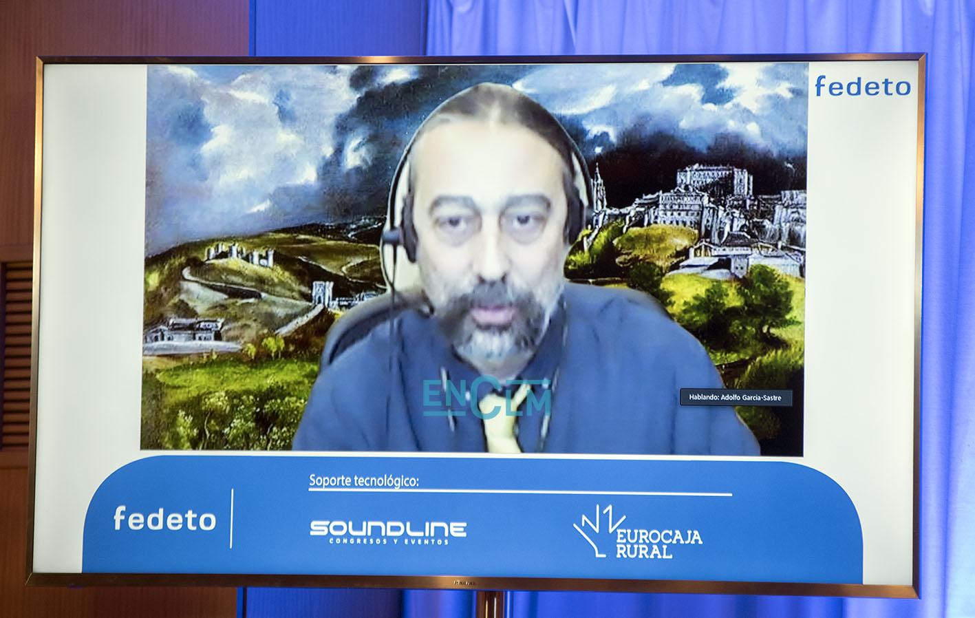 El virólogo Adolfo García-Sastre, en la conferencia en los Galardones Empresariales de Fedeto.