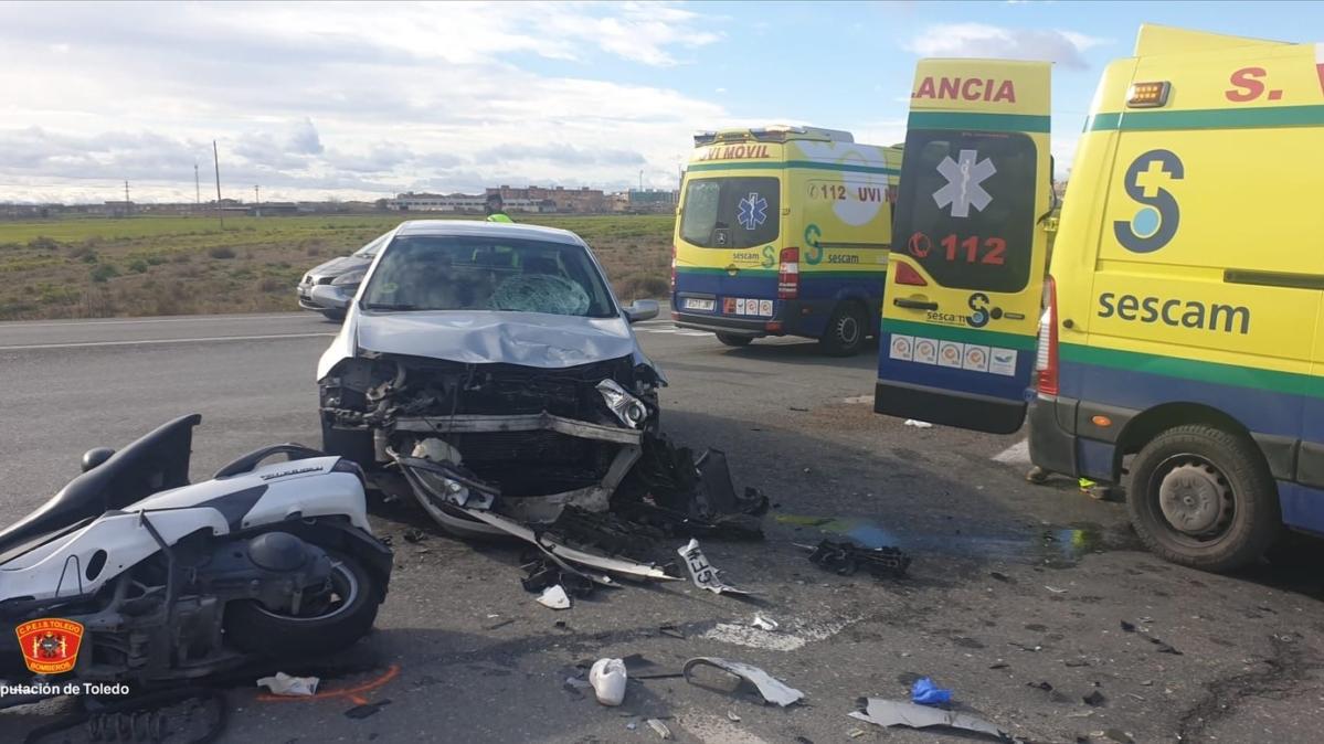 Imagen del siniestro ocurrido en Illescas. Foto: @CepisIllescas