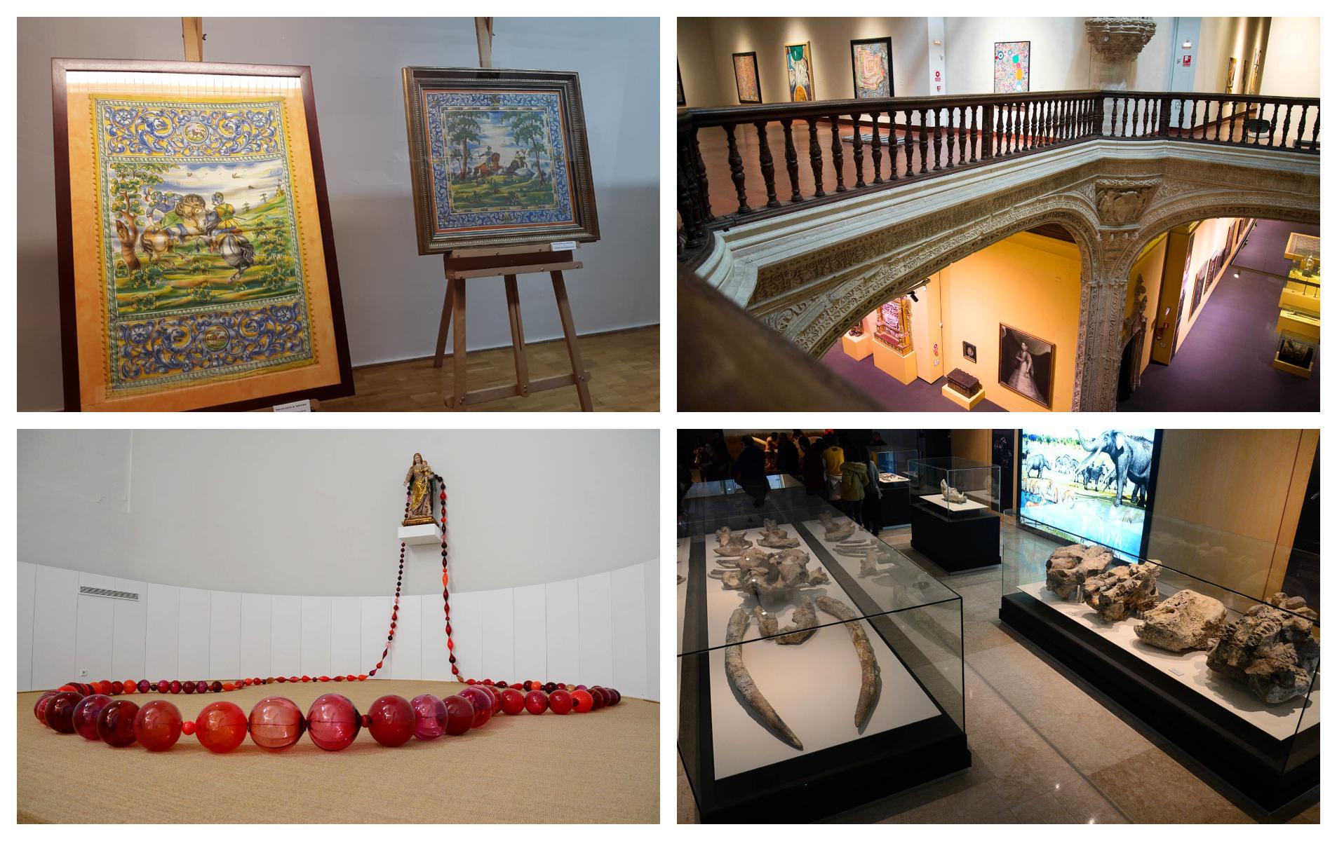 El Museo Ruiz de Luna, en Talavera; el Santa Cruz, en Toledo; la Colección Roberto Polo, en Toledo, que también está ha abierta en Cuenca; y el Museo de Paleontología de Castilla-La Mancha, en Cuenca.