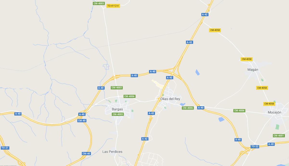 El accidente ha tenido lugar en el término municipal de Olías.