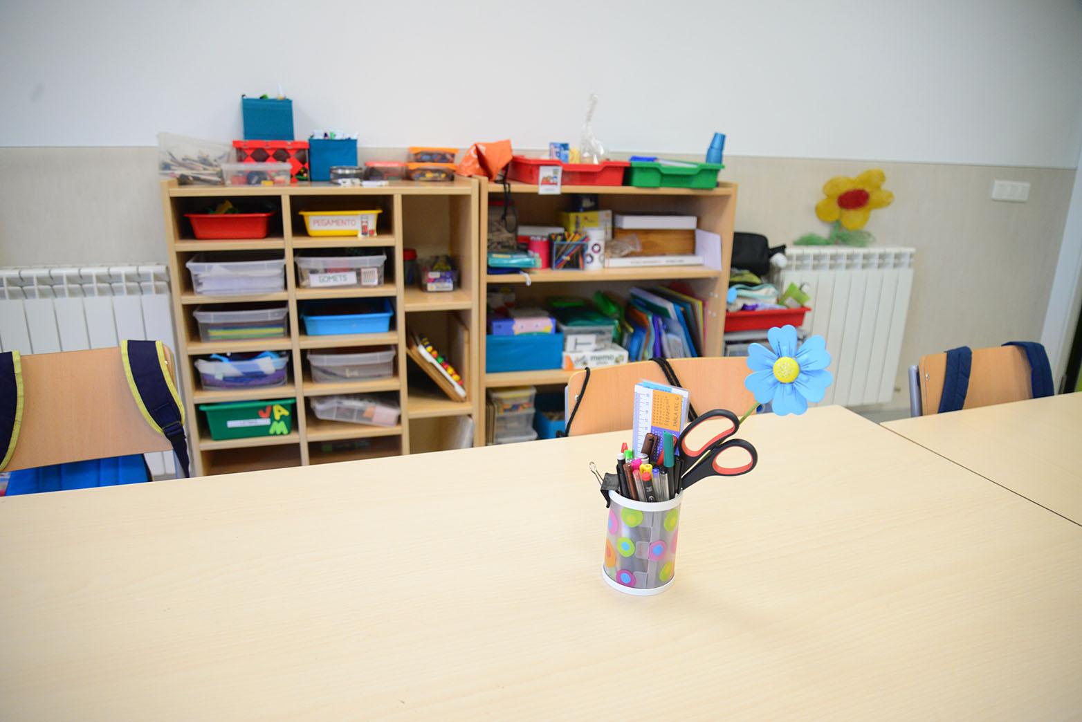 Imagen de archivo del interior de un aula.