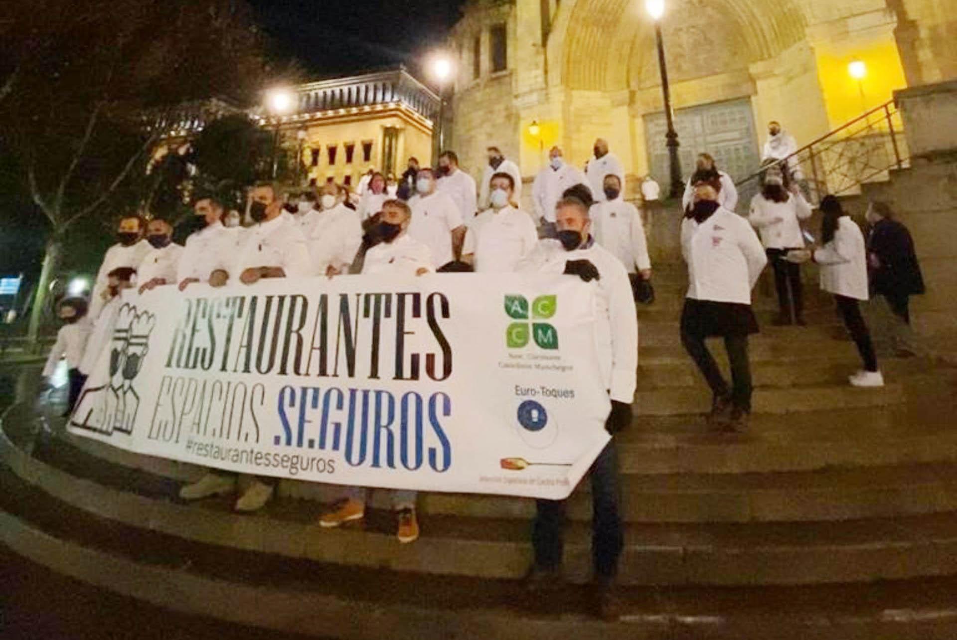 Concentración de hosteleros de Albacete