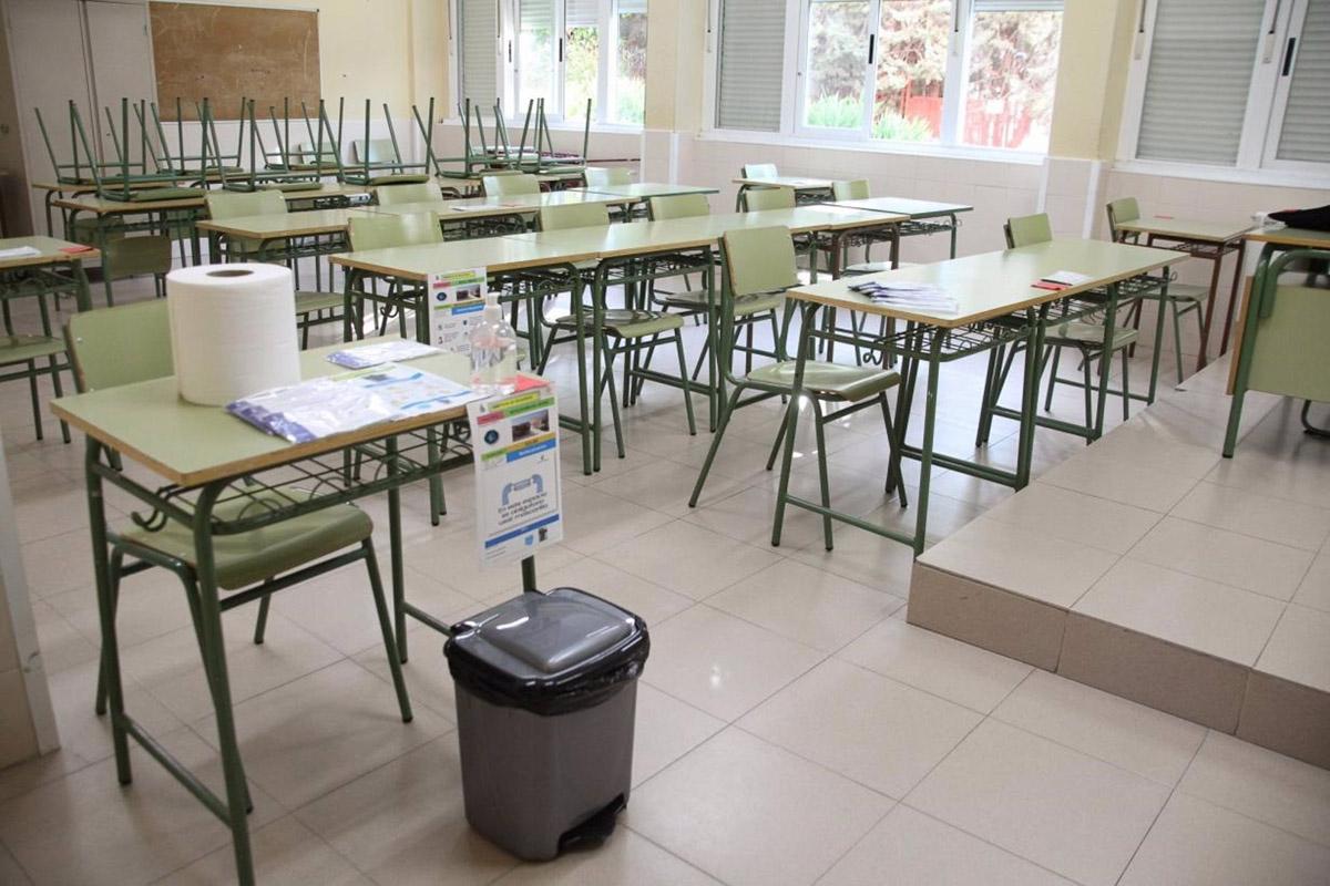 Son pocas las aulas que están confinadas y, por lo tanto, vacías en CLM.