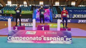 Lucas Búa fue tercero en los 400 metros. Foto: RFEA
