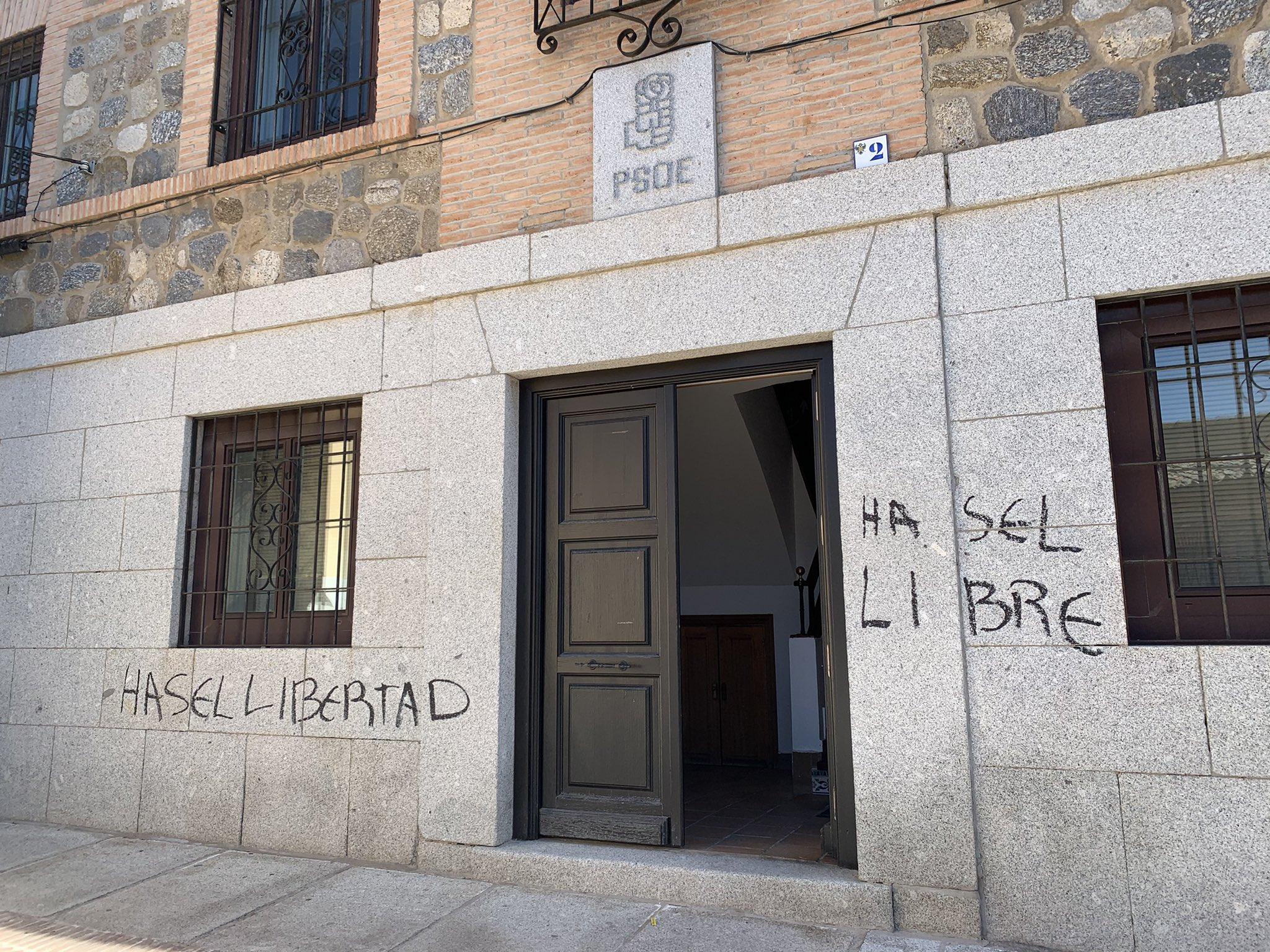 El PSOE ha condenado las pintadas que han aparecido en su sede a favor de Pablo Hasél.