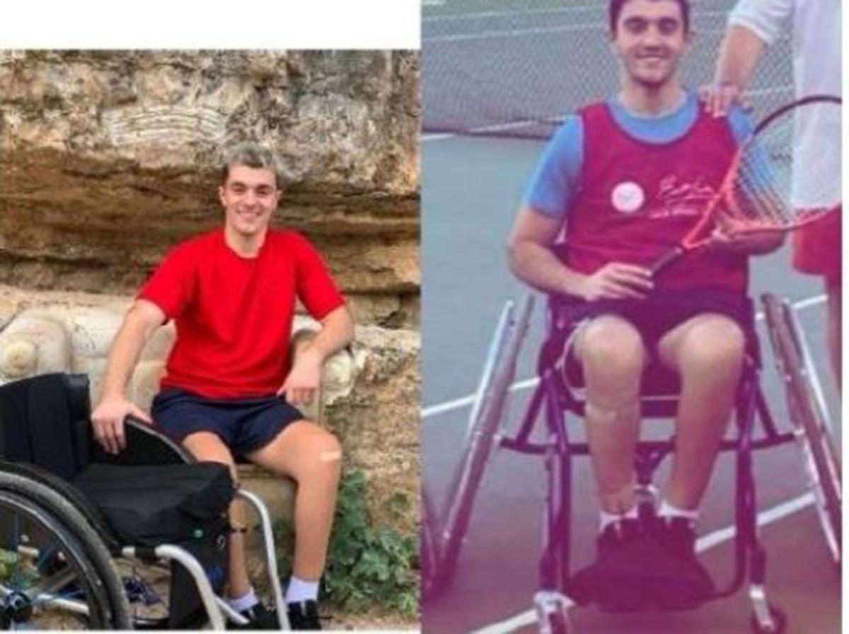 Gabriel Teruel logró fondos para su silla en solo dos días. Foto: GoFundMe