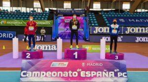 Manuel Guijarro logró la plata en los 200 metros. Foto: RFEA