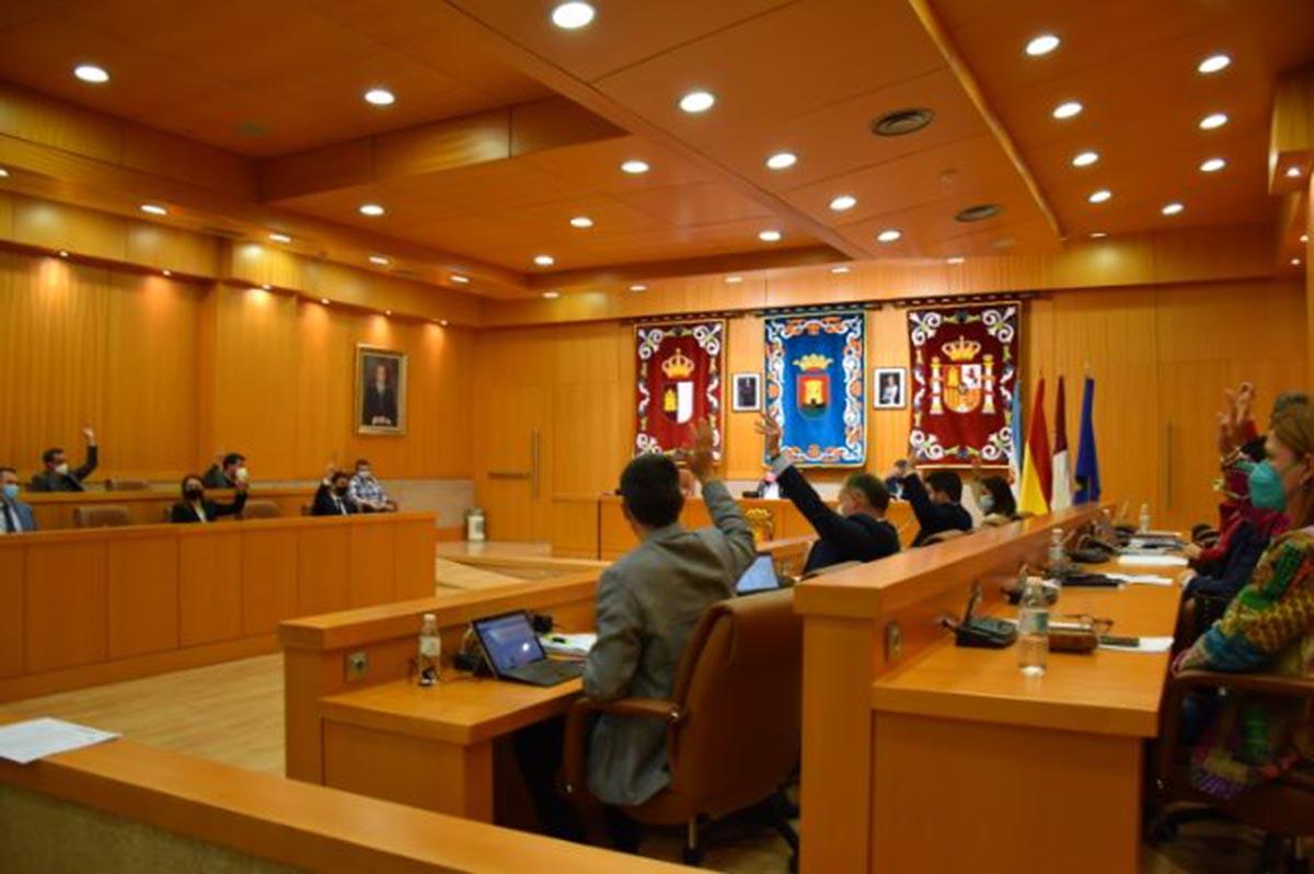Imagen de un pleno reciente en el Ayuntamiento de Talavera