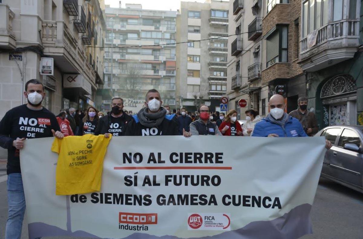 Protesta contra el cierre de Siemens Gamesa Cuenca