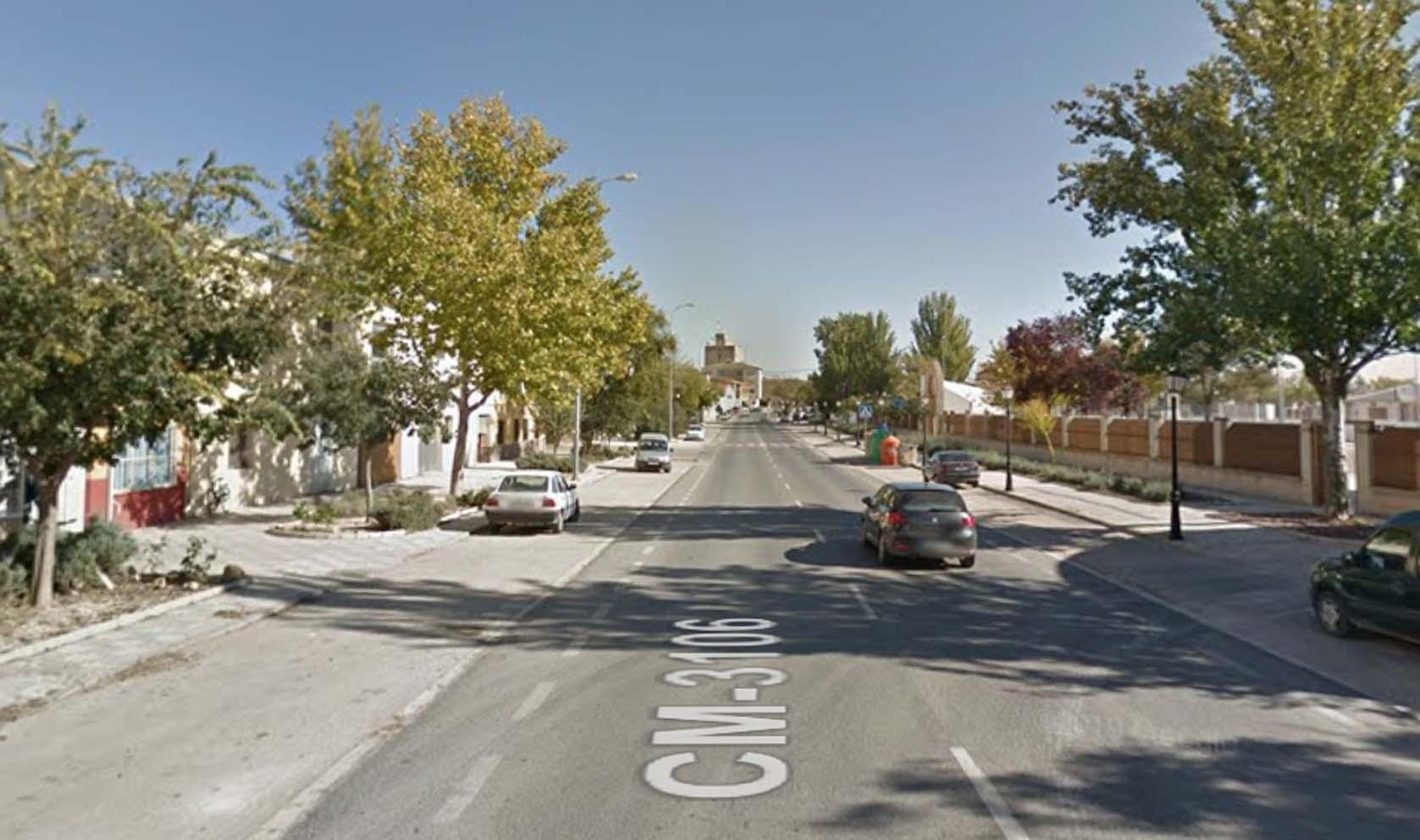 Avenida La Roda, en Tarazona de la Mancha.