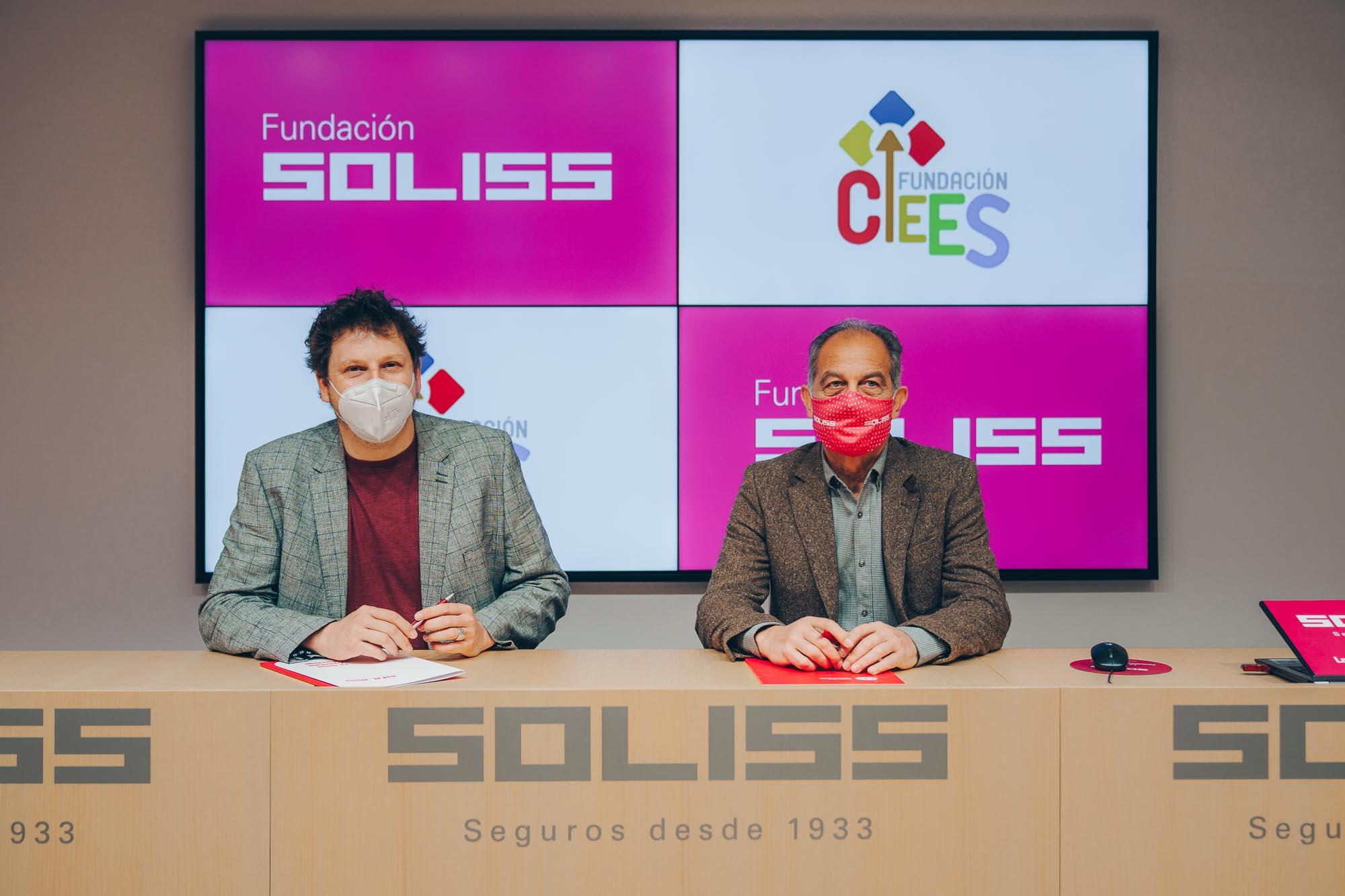 Andrés Martínez, presidente de Cecap y Celedonio Morales, patrono de la Fundación Soliss.