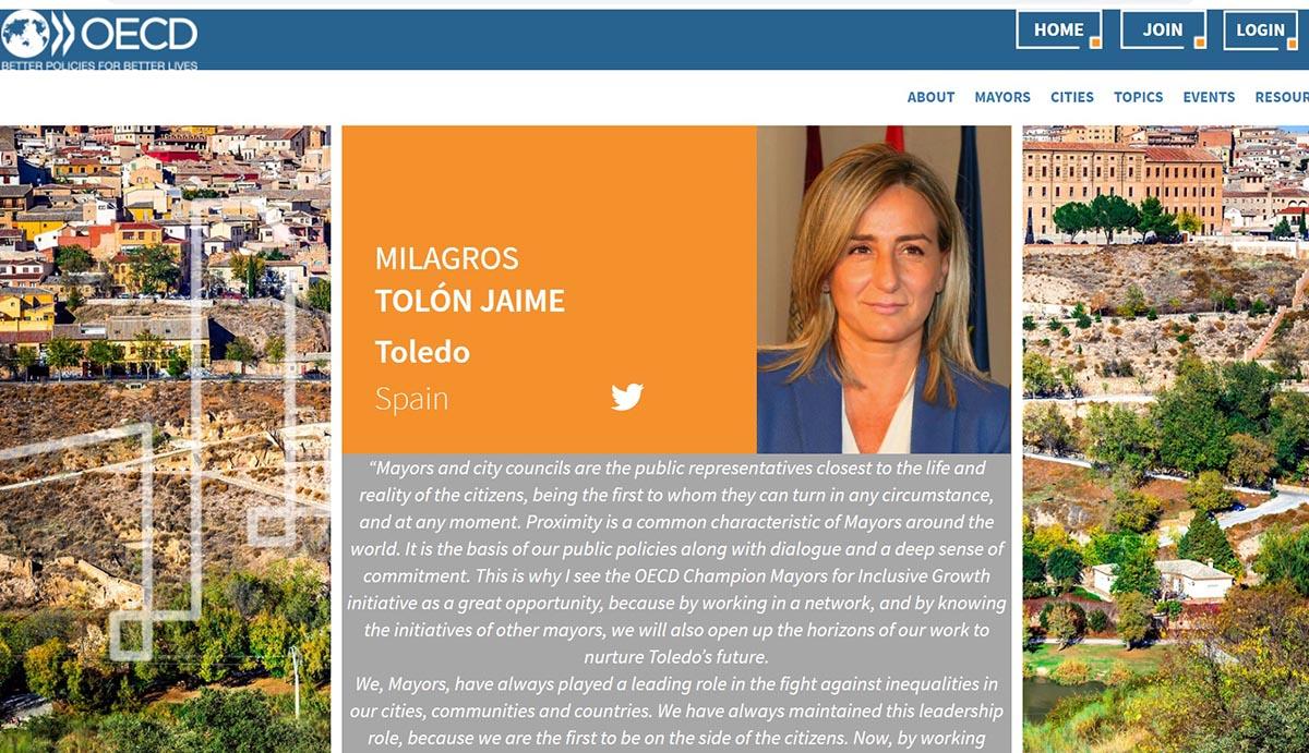 """Milagros Tolón ya forma parte de """"Alcaldes/as campeones de la OCDE"""""""