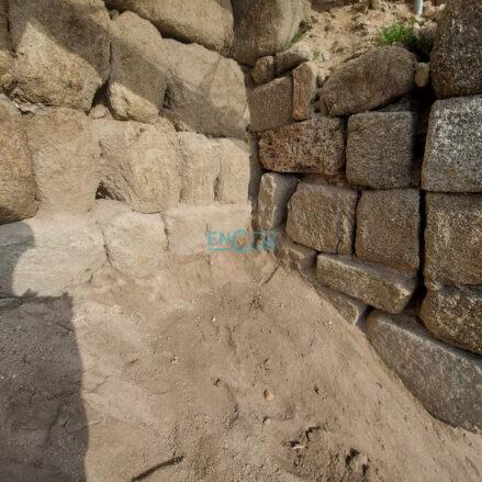 Parte de los sillares de la muralla omeya descubiertos en la muralla medieval de Toledo y que ayer contó, en exclusiva, encastillalamancha.es.