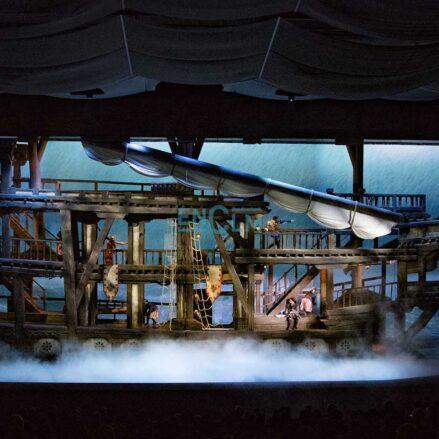 Uno de los espectáculos diurnos de Puy du Fou. Foto: Rebeca Arango.