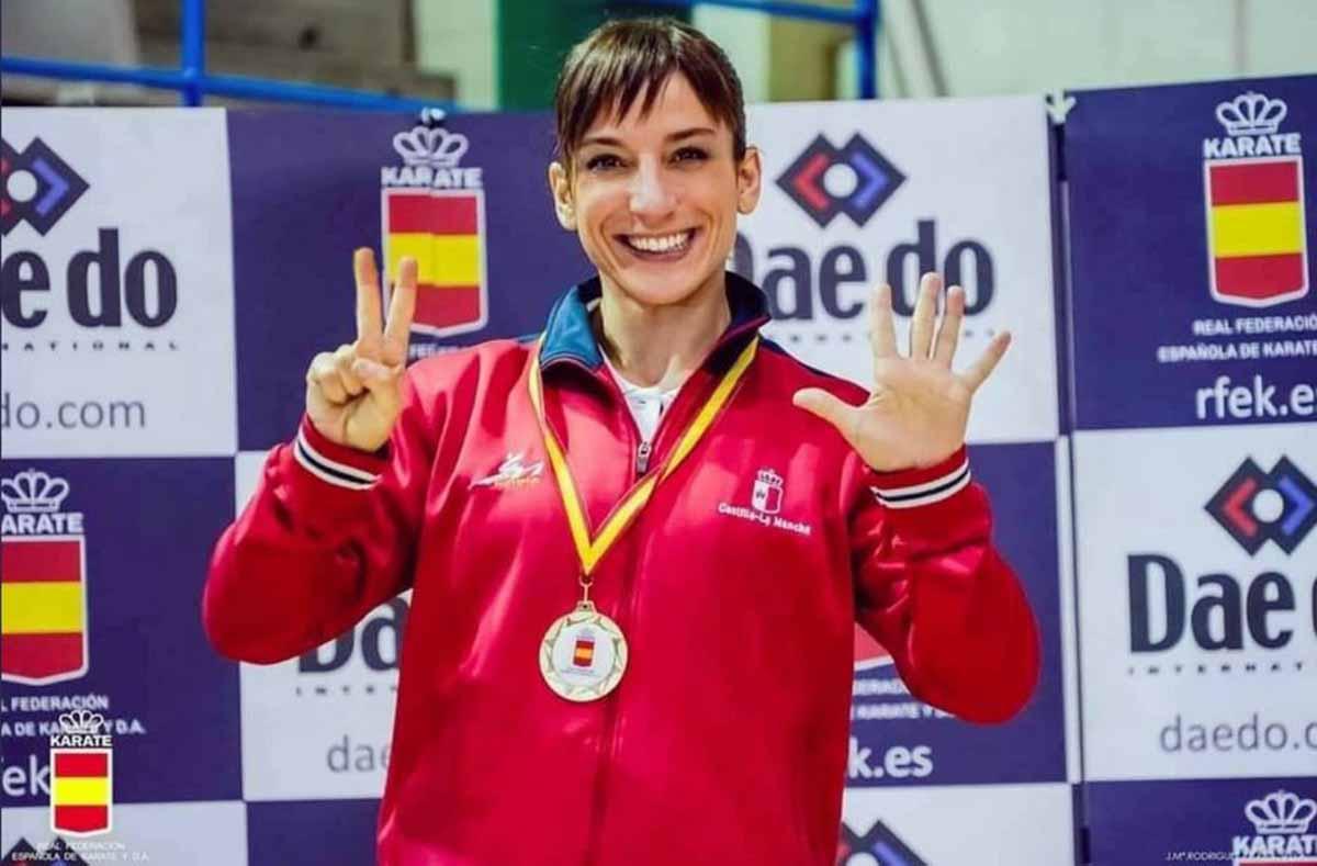 Sandra Sánchez, campeona de España en Leganés. Foto: RFEKarate