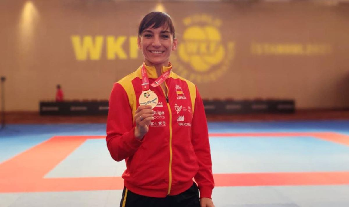 Sandra Sánchez: con la de Estambul, 54 medallas seguidas. Foto: @sandrasankarate