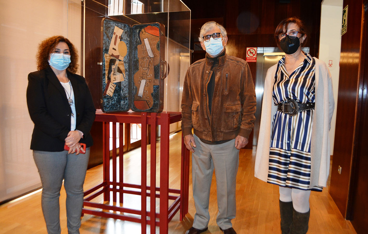 La supuesta obra de Picasso ya está expuesta en San Clemente.
