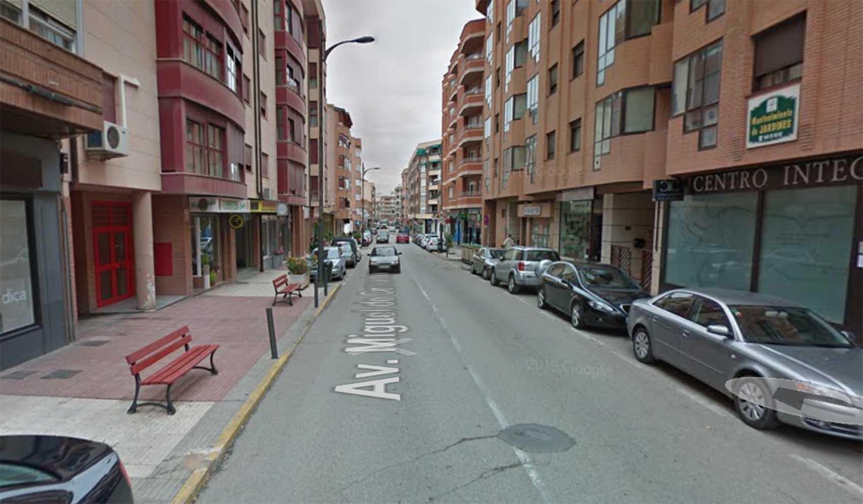 Avenida Miguel de Cervantes, en Tarancón (Cuenca).