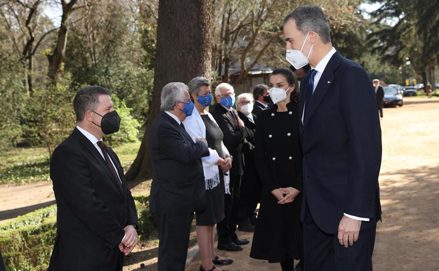 Page, junto a los reyes Felipe VI y Letizia en el acto de homenaje a las víctimas de 11M.