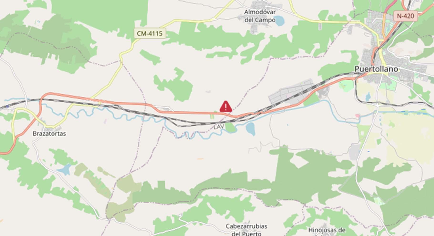 En el punto marcado en rojo se ha producido el siniestro en el que ha muerto una mujer de 61 años.