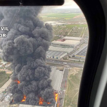 Imagen aérea del incendio de Seseña.