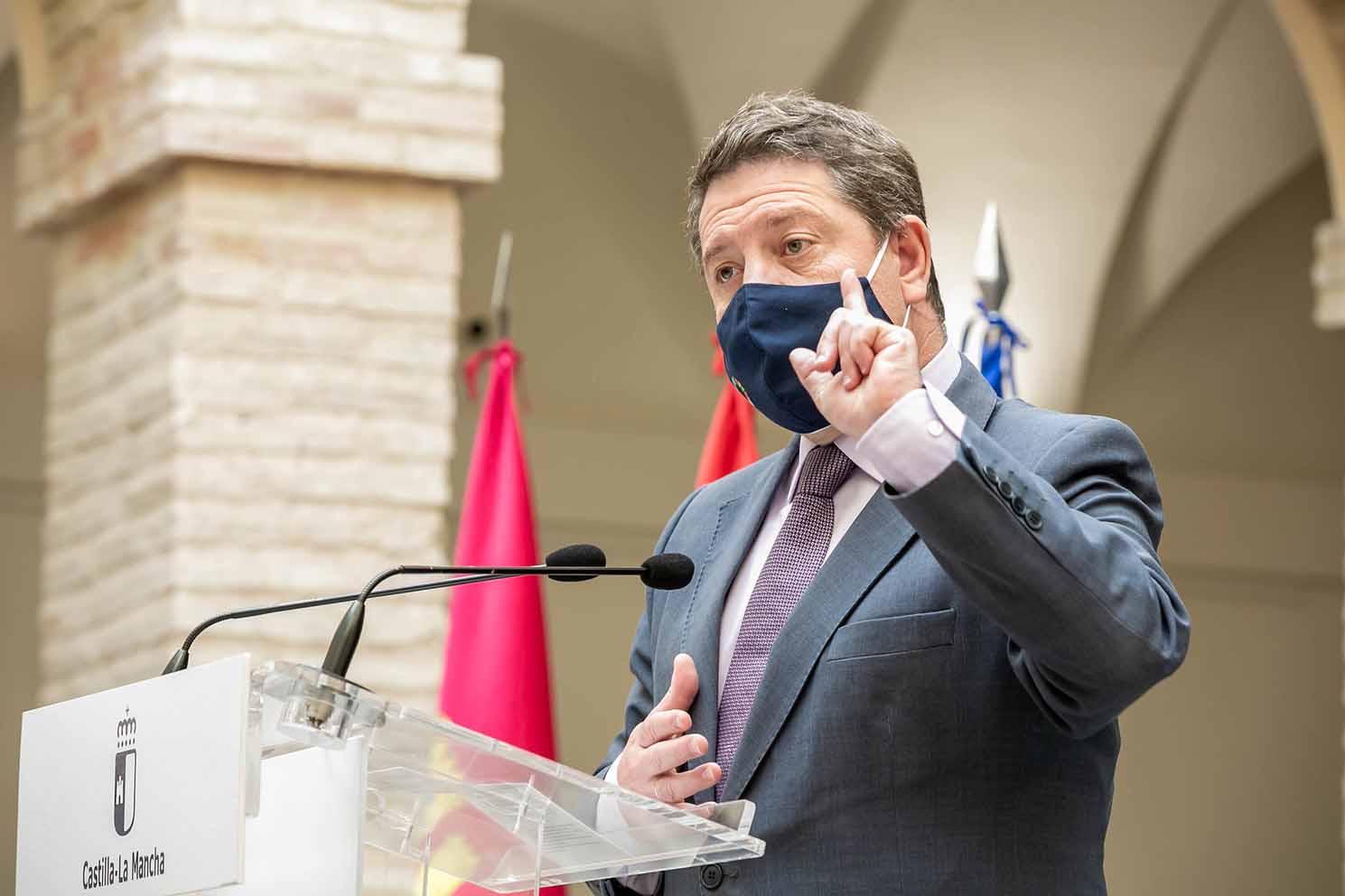 El presidente de Castilla-La Mancha, Emiliano García-Page, en la presentación del proyecto de la Ciudad Administrativa de Ciudad Real.