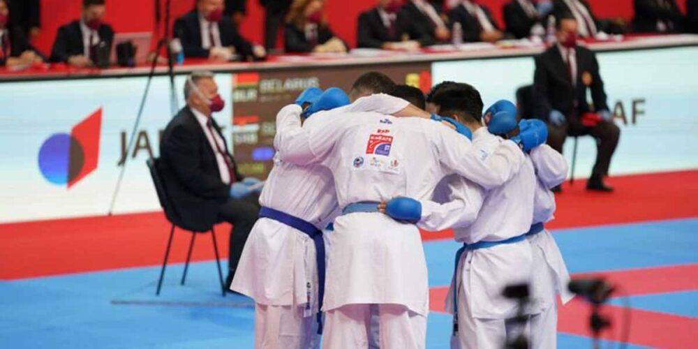 El equipo de kumite masculino debía disputarle el bronce a Azerbaian. Foto: @RFEK