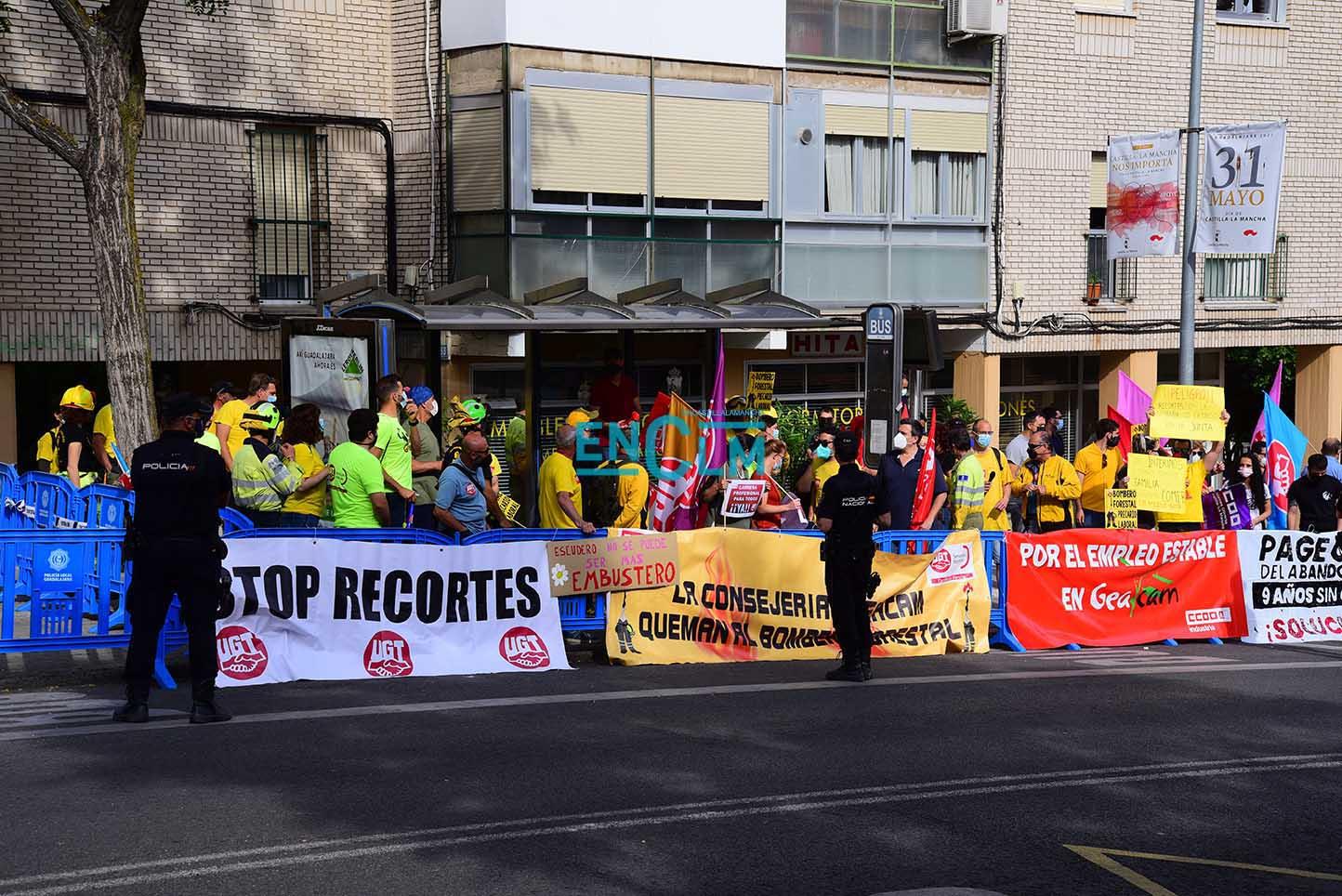 Imagen de una de las manifestaciones de trabajadores de Geacam.