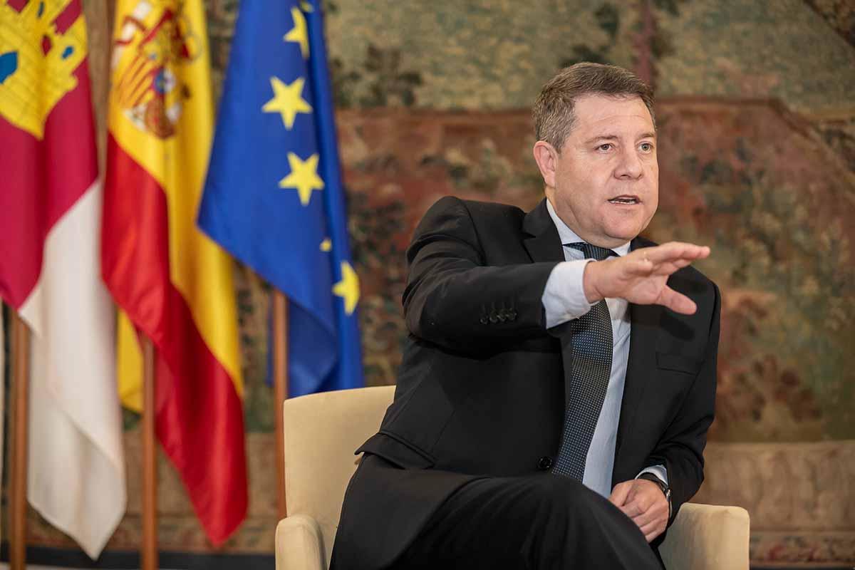 """Page, durante la entrevista para """"La Verdad"""" de Murcia"""
