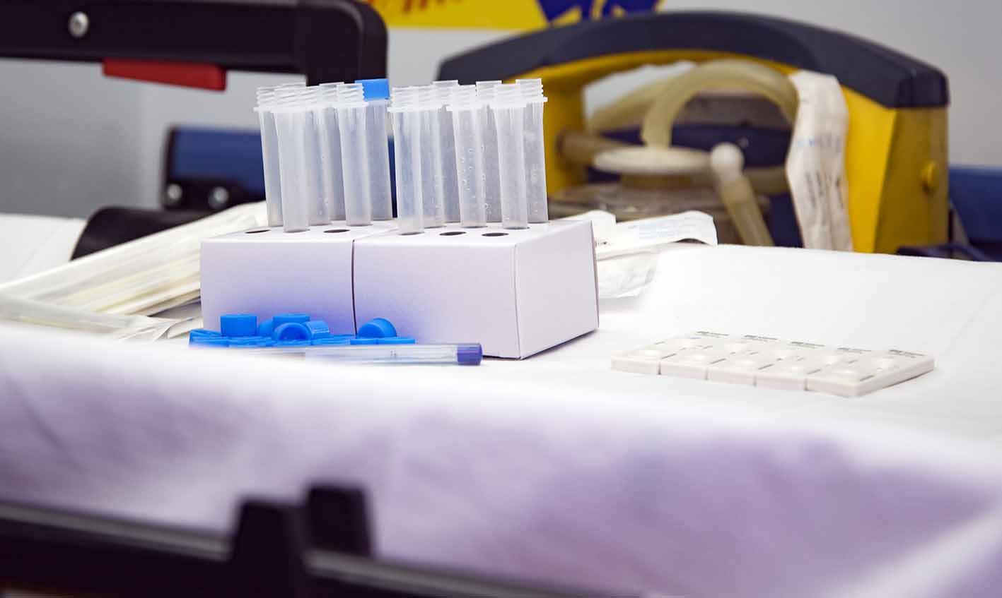 Imagen de archivo de test de antígenos. Foto: Rebeca Arango.