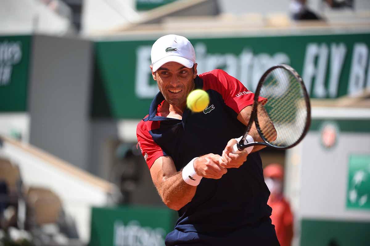 Pablo Andújar: una de las mejores victorias de su carrera. Foto: @rolandgarros