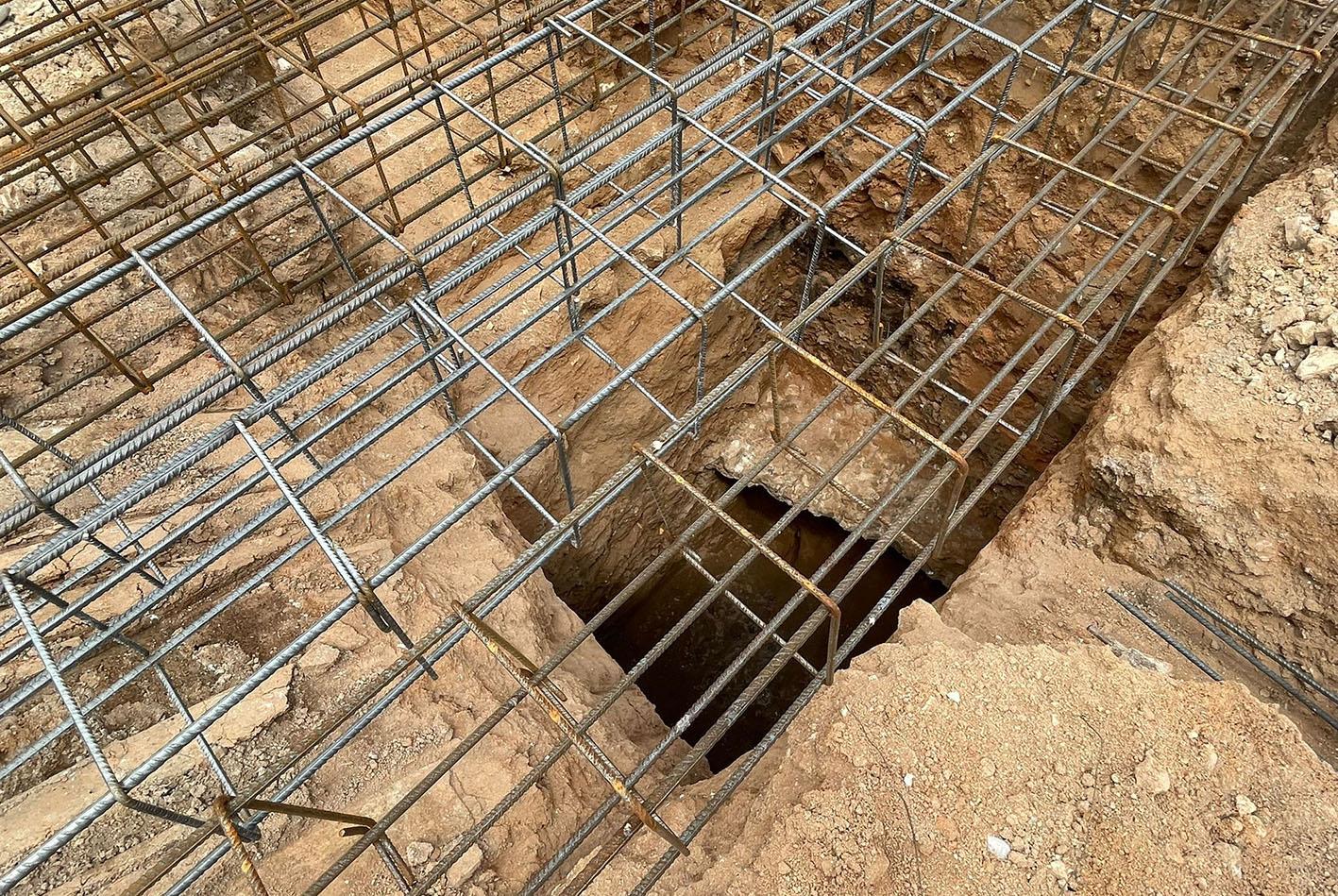 Parte de una de las bóvedas del que fuera anfiteatro romano de Toledo y que han sido descubiertas durante unas obras.