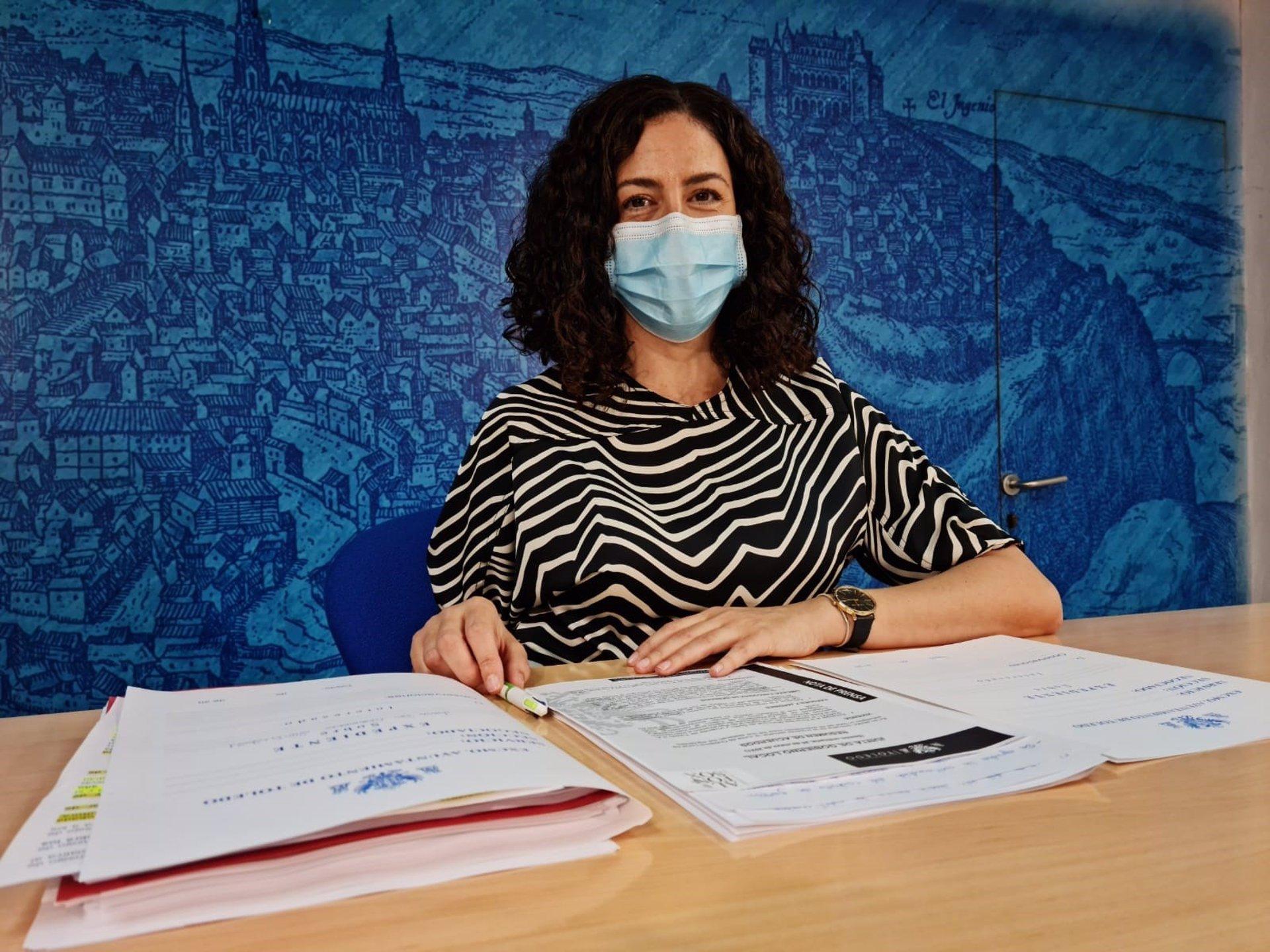 La portavoz del equipo de Gobierno en el Ayuntamiento de Toledo, Noelia de la Cruz.