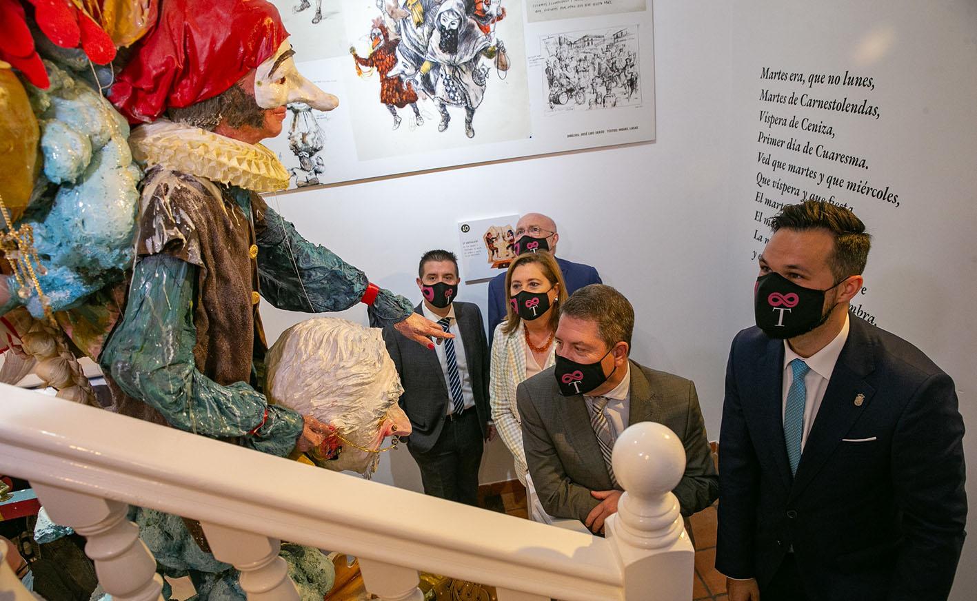 Page, durante la inauguración del Centro de Interpretación del Patrimonio Local y del Carnaval de Tarazona de la Mancha (Albacete).