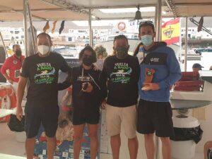 Integrantes de la Vuelta a Nado a la Isla de La Graciosa