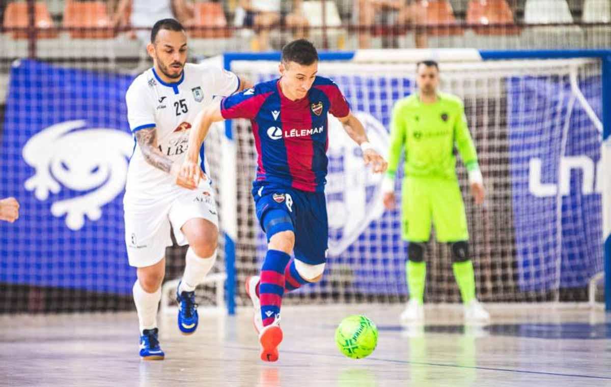 El Viña Albali Valdepeñas cayó contra el Levante. Foto: Levante FS