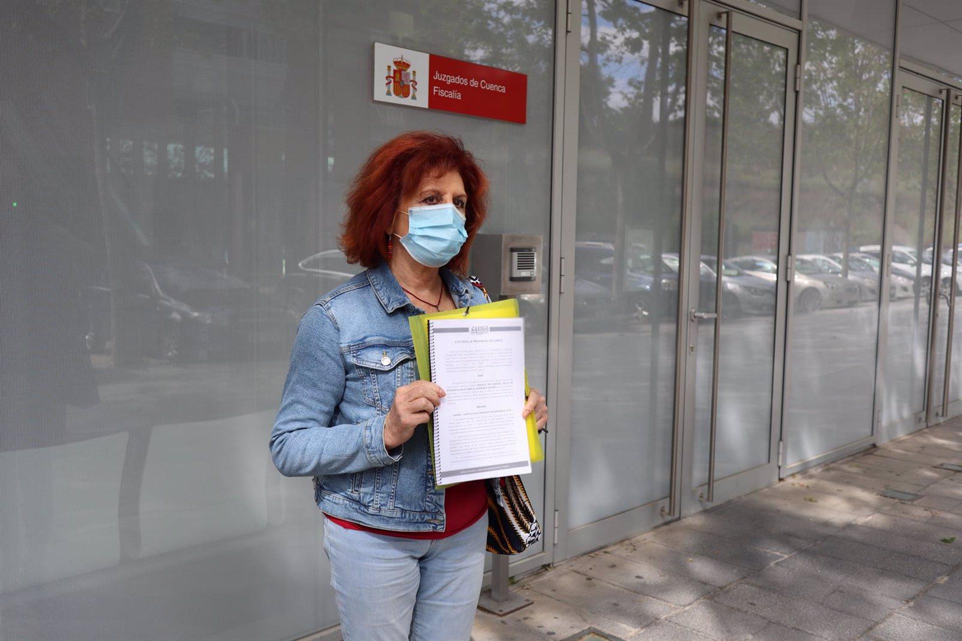 La concejala y portavoz de la confluencia municipalista 'Cuenca, En Marcha!' (Podemos-Equo) en el Ayuntamiento de Cuenca, Mª Ángeles García Jiménez.