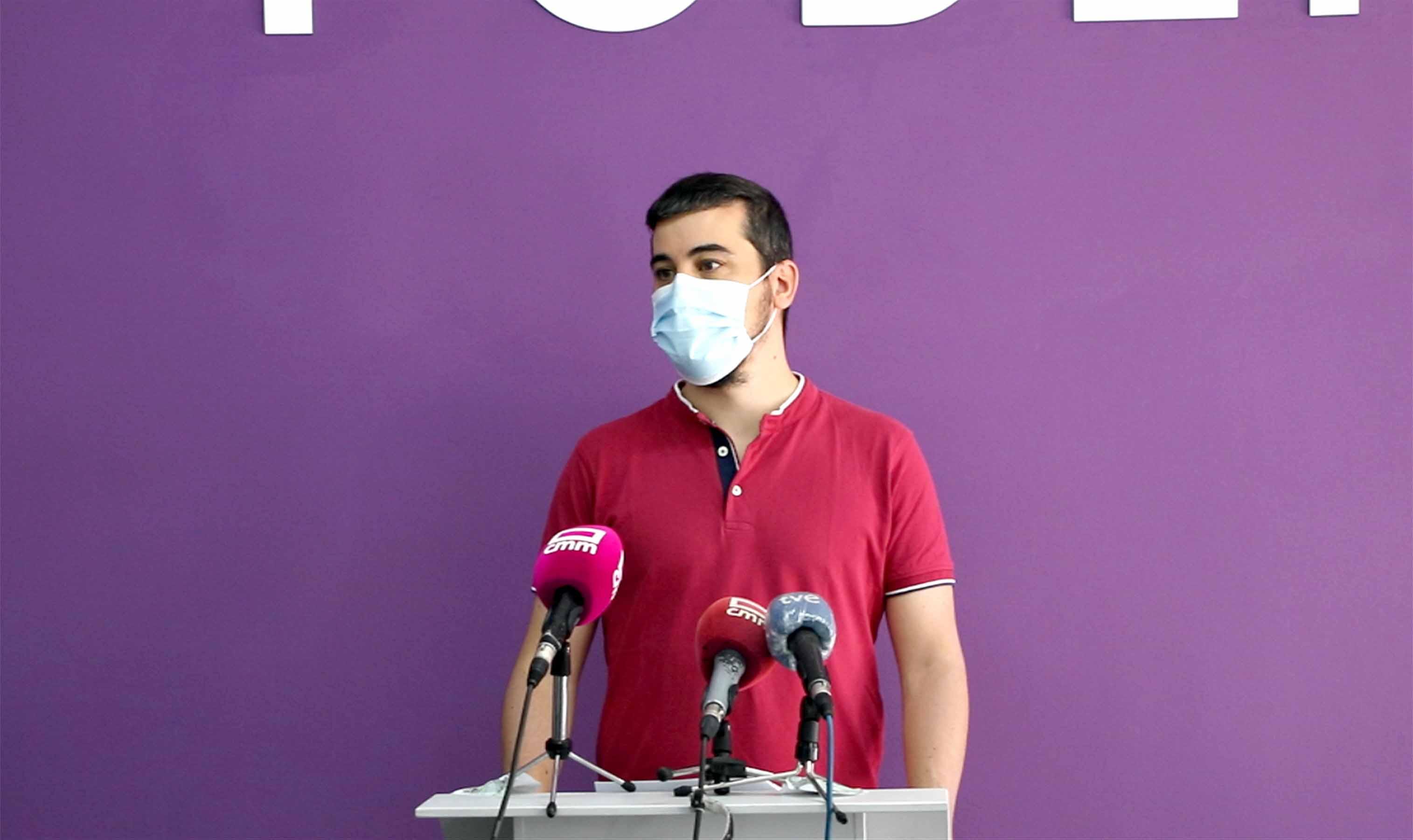 El coordinador autonómico de Podemos en Castilla-La Mancha, José Luis García Gascón