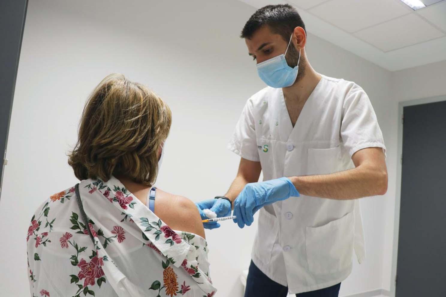 Imagen de archivo de la vacunación en Castilla-La Mancha.