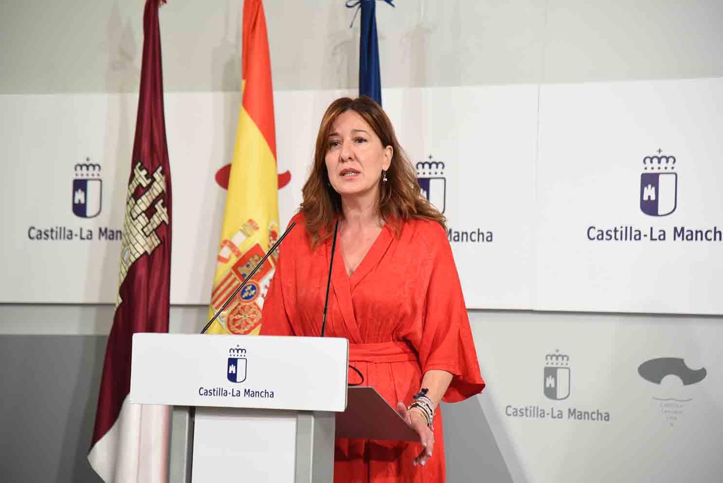 La portavoz del Gobierno de Castilla-La Mancha, Blanca Fernández.